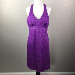 Racer back purple summer dress
